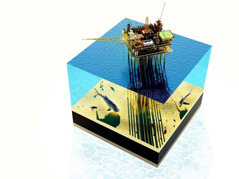 Wzorcowy morze royalty ilustracja