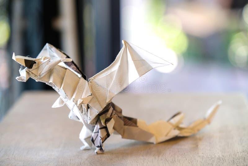 wzorcowy origami smok obraz royalty free