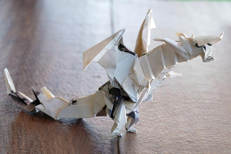 wzorcowy origami smok zdjęcia royalty free