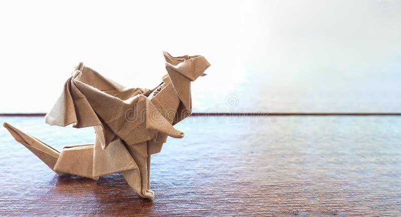 wzorcowy origami smok fotografia stock