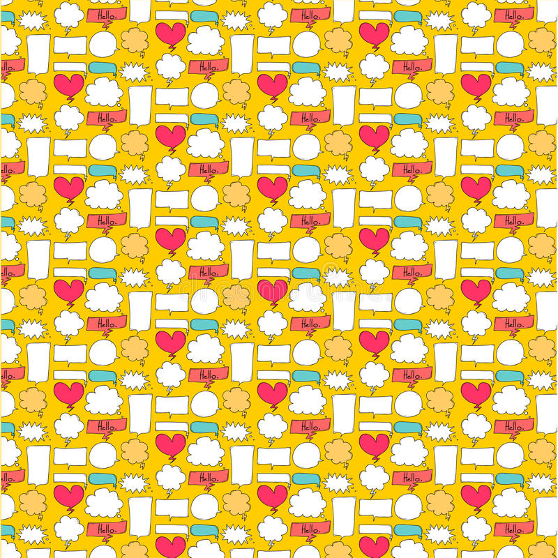 Wzoru Śliczny bąbel Z Żółtym tłem royalty ilustracja