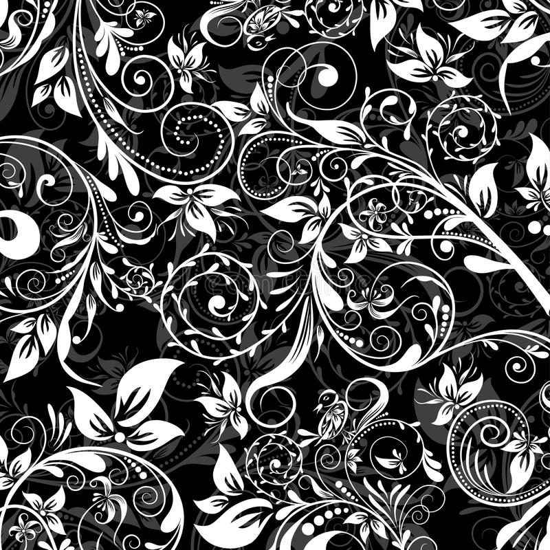 wzoru abstrakcjonistyczny kwiecisty wektor ilustracji