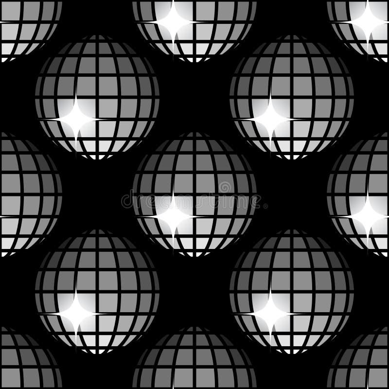 Wzoru 8 dyskoteki Błyszczące piłki zdjęcia stock