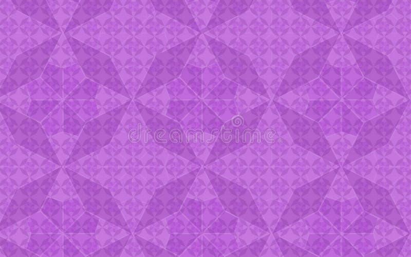 Wzoru inside wzoru skutek w wektorowym purpurowym geometrycznym wielostrzałowym wzorze ilustracja wektor