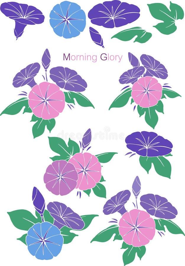 Wzoru ranku chwały set royalty ilustracja