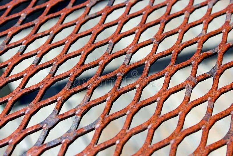 Wzory żelazo talerz z pores zdjęcia stock