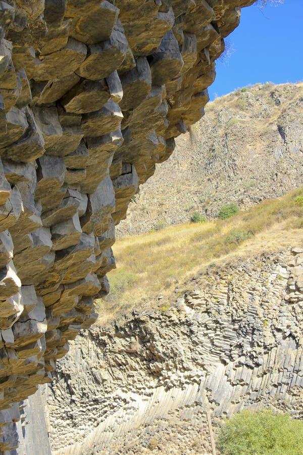 Wzory bazaltowe kolumny fotografia stock