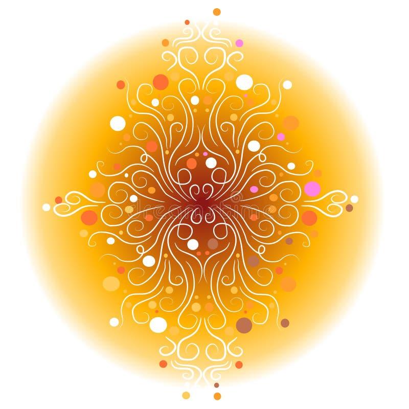 wzory dekoracyjni światła royalty ilustracja