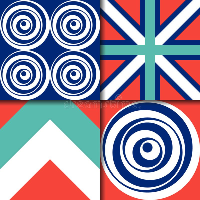 Wzory geometryczne, kształty graficzne, spiralne, paski zdjęcia stock