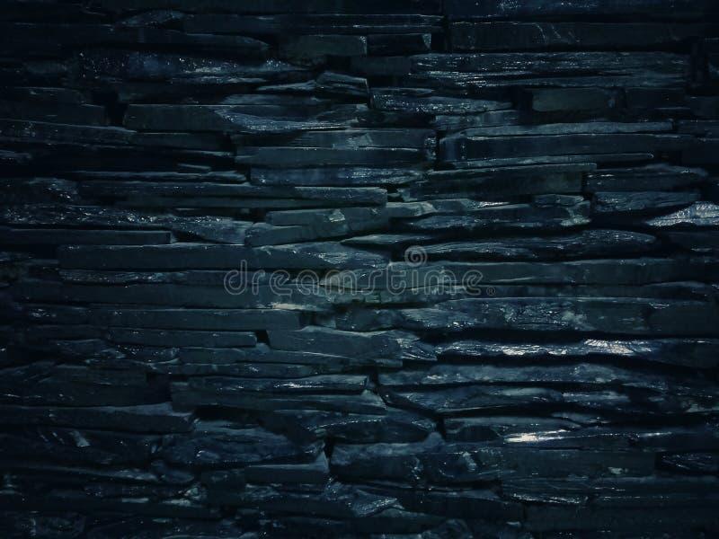 Wzory i tekstury czarni kamienie zdjęcie stock