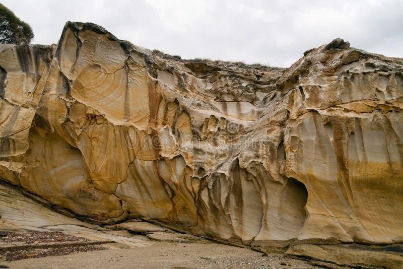 wzory kołysają piaskowa obraz stock