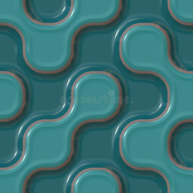 wzory kolor ceramicznych royalty ilustracja