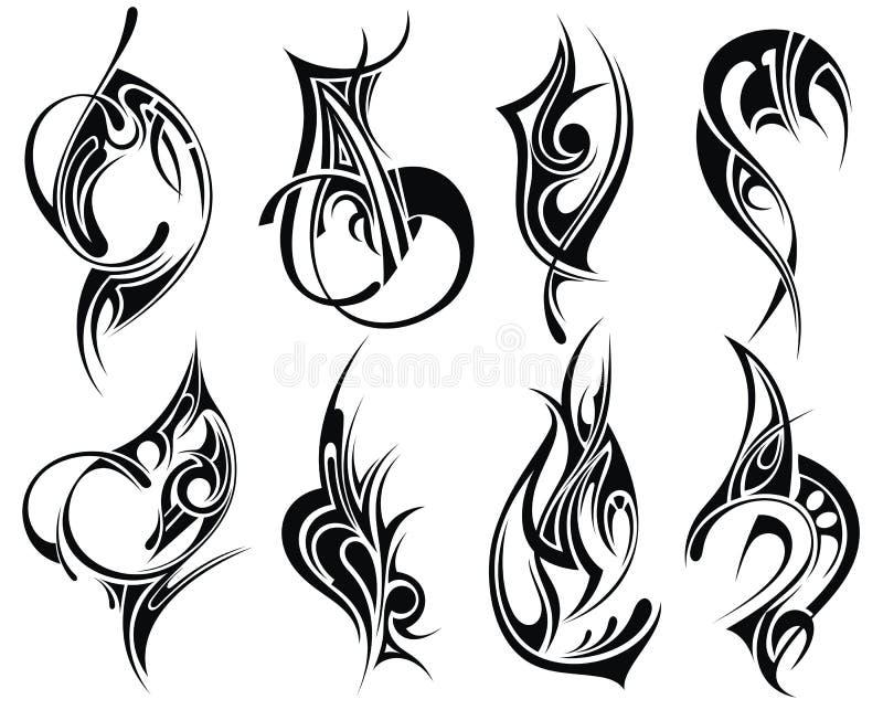Plemienny tatuaż royalty ilustracja