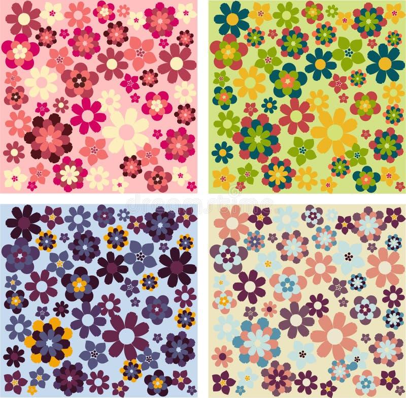 wzory prostych kwiatów ilustracja wektor