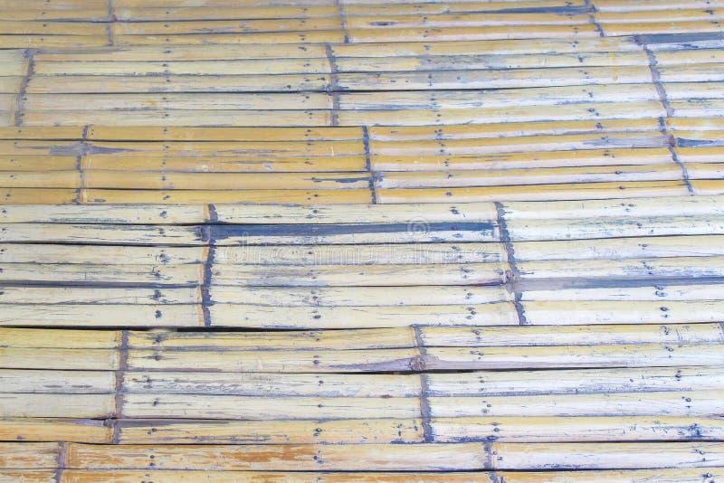 Wzory tajlandzki tradycyjny handcraft starej bambusowej podłogi, naturalny drewniany tekstury tło zdjęcie royalty free