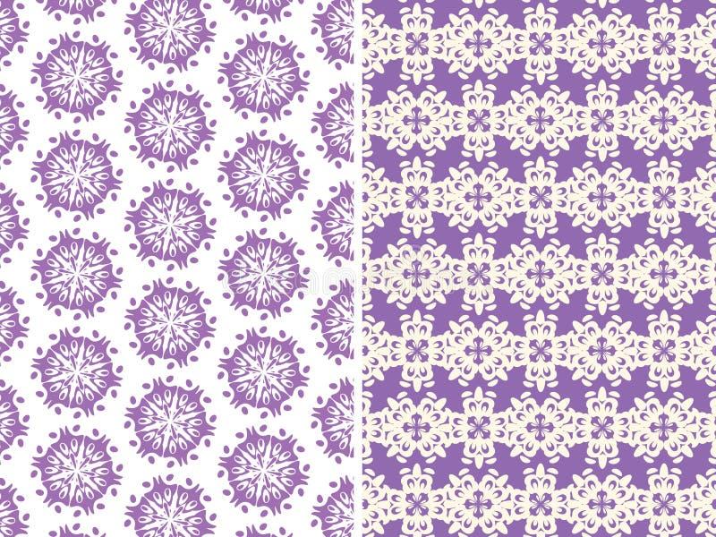 Wzory w purpurowych kolorach ilustracja wektor