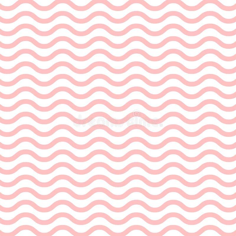 Wzorzec fali Bezproblemowy deseń linii falistej ilustracja wektor
