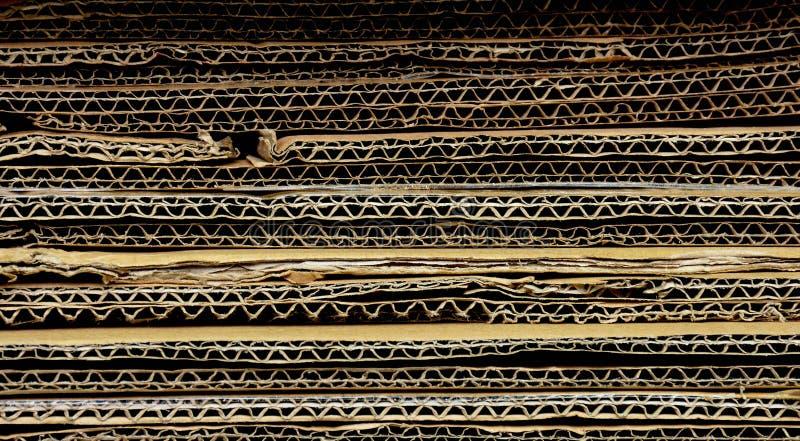 Wzorzec starego papieru makulaturowego falistego obraz royalty free