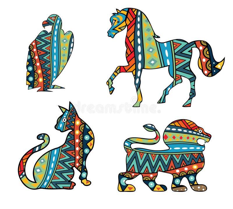 Wzorzyści zwierzęta ilustracji