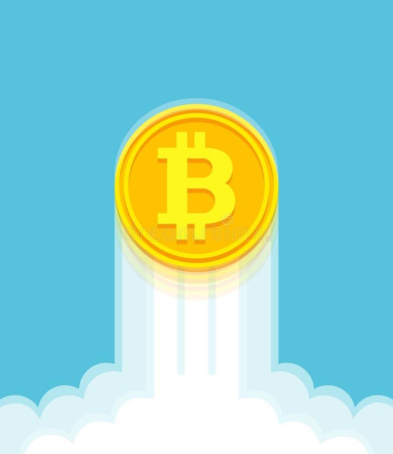 Wzrastać bitcoin tempo ilustracji