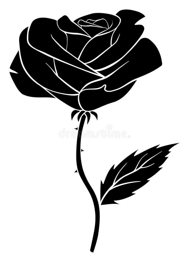 Wzrastał czarną sylwetkę Odosobniona wektorowa ilustracja royalty ilustracja
