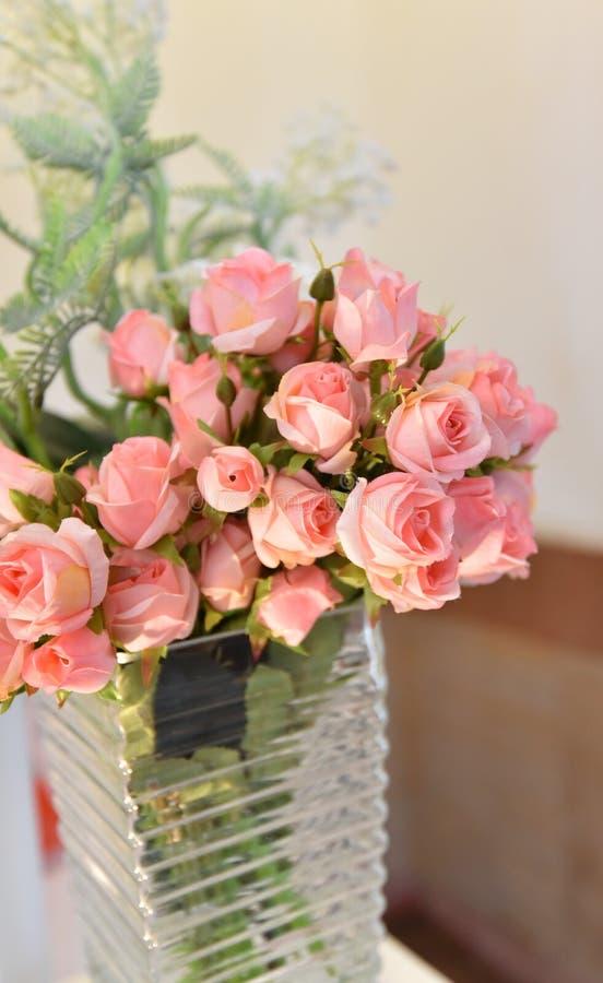 Wzrastał menchia kwiatu fotografia royalty free
