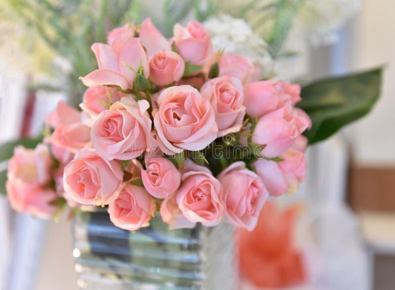 Wzrastał menchia kwiatu zdjęcia stock
