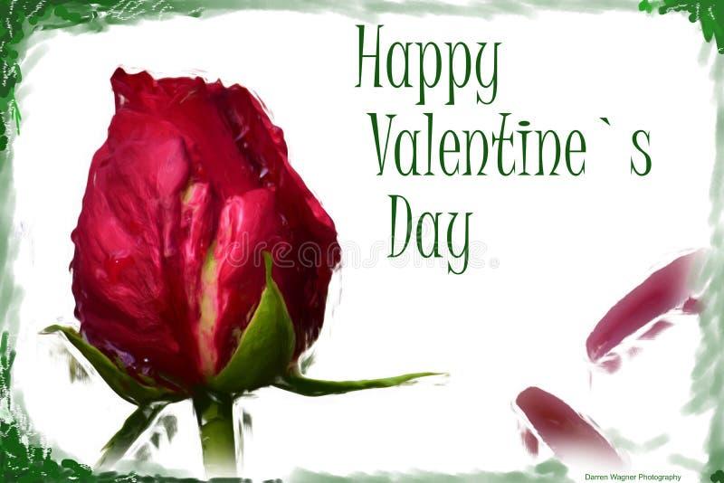 Wzrastał szczęśliwego valentine ` s dzień zdjęcie stock