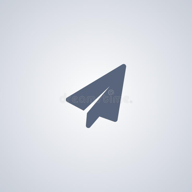 Wzrasta, papierowy samolot, wektorowa najlepszy płaska ikona royalty ilustracja