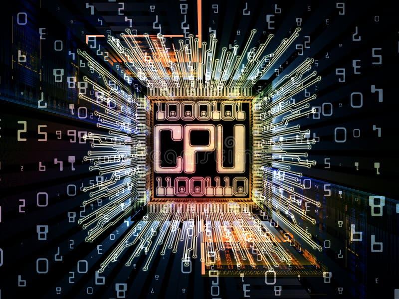 Wzrok Cyfrowego procesor royalty ilustracja