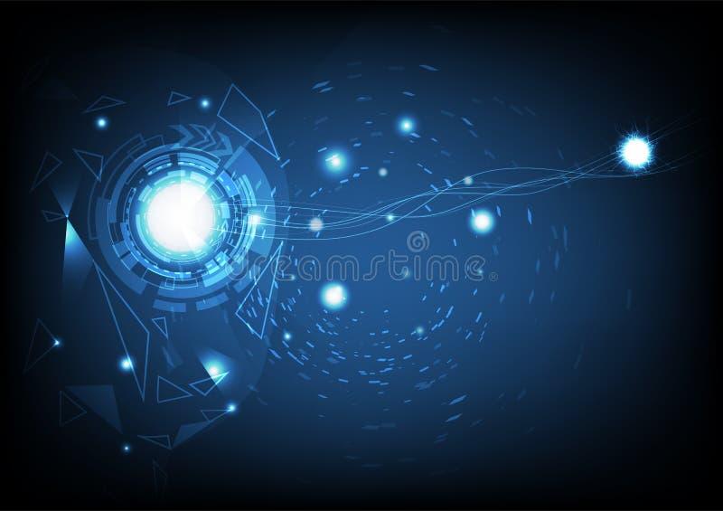 Wzrok kreatywnie sztuczna inteligencja, krzywa gładka, trójboki ilustracji