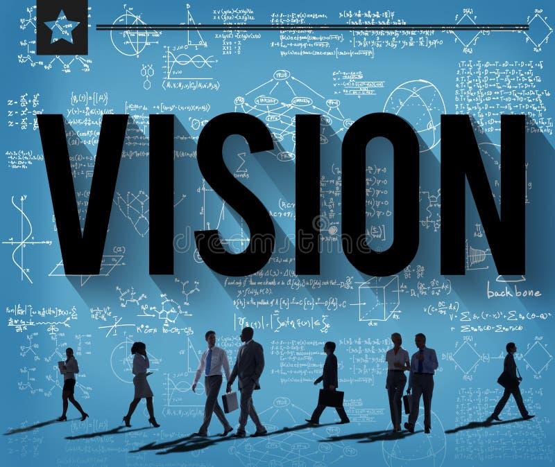 Wzroku celu misi motywaci celów pojęcie royalty ilustracja