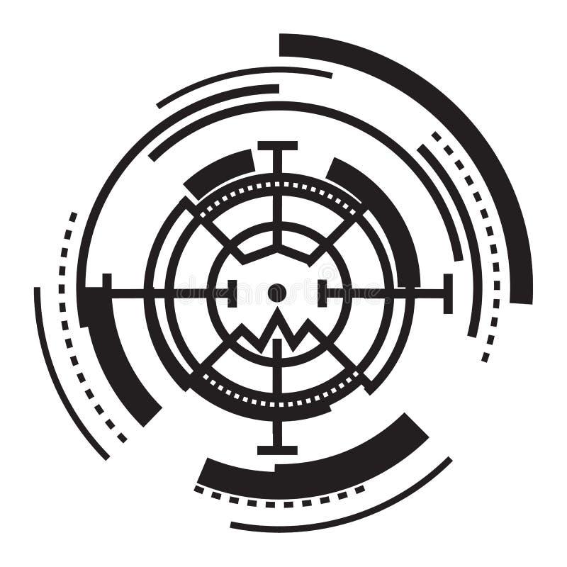 Wzroku crosshair ikona, prosty styl ilustracja wektor