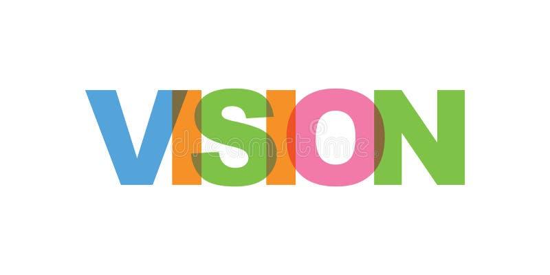 Wzroku karciany tekst Nowo?ytny literowanie plakat Koloru słowa sztuki sloganu ikona Zwrota druku projekta wektorowi elementy ilustracji