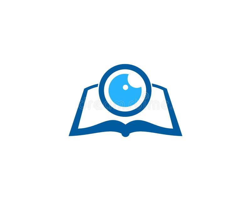 Wzroku loga ikony Książkowy projekt ilustracja wektor