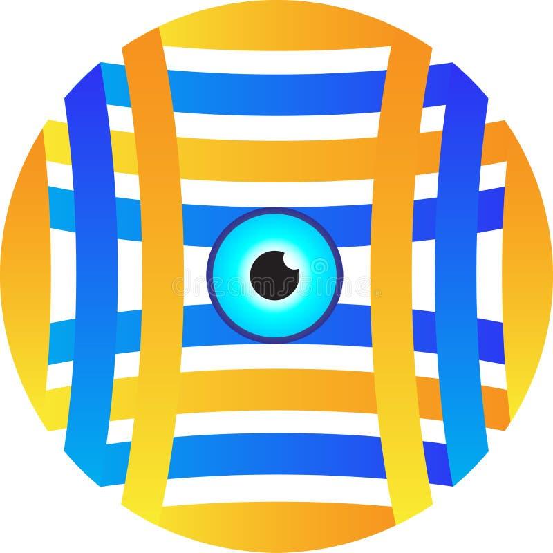 Wzroku logo royalty ilustracja