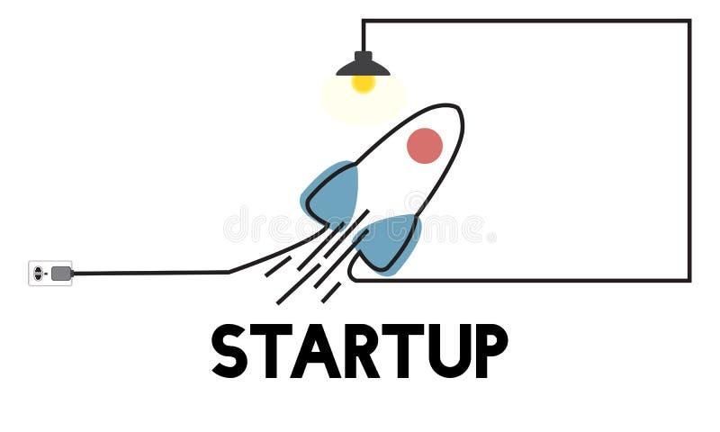 Wzroku Początkowego planu Biznesowego przedsiębiorcy Nowy pojęcie ilustracja wektor