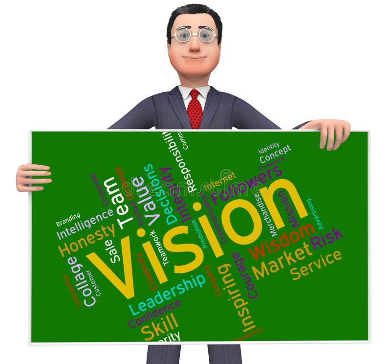 Wzroku słowo Pokazuje Przyszłościowego cel I Aspiruje royalty ilustracja