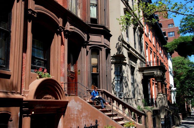 wzrost Brooklyn brownstones wieka wzrosty ny zdjęcie stock