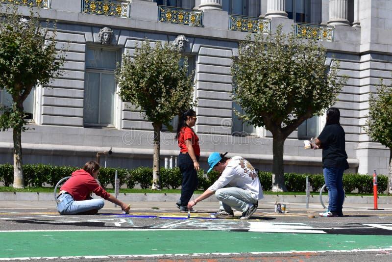 Wzrost dla klimatu, pracy, sprawiedliwość; San Fransisco, 10 obraz royalty free