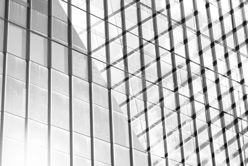 Wzrosta szklany nowożytny budynek dla abstrakcjonistycznego tła Fasady tex obraz royalty free