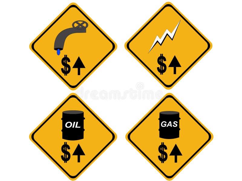wzrostowi kosztów energii, wody ilustracji
