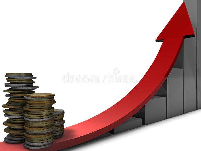 wzrostowy pieniądze zdjęcie royalty free