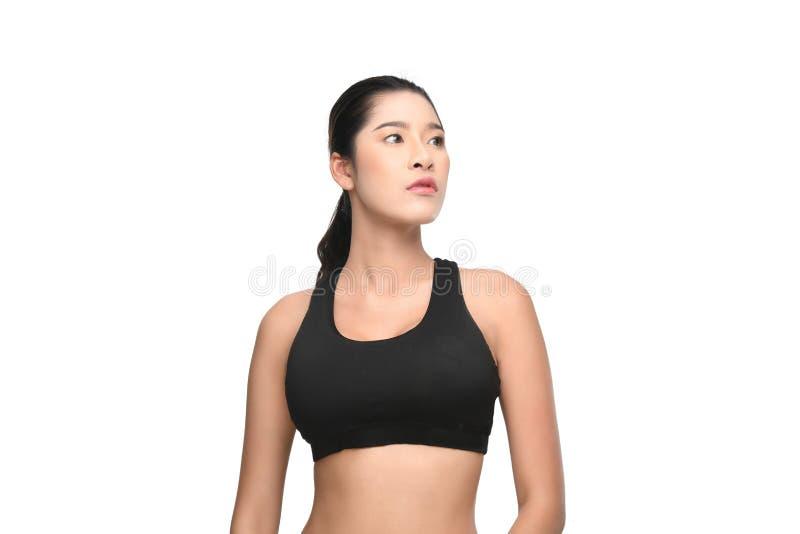 Wzrostowy portret sprawności fizycznej kobieta w sportswear zdjęcie royalty free