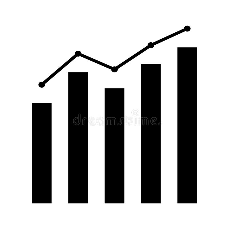 Wzrostowy wykres biznesowej mapy ikony wektorowy finanse, księgowość, asekuracyjny pojęcie dla graficznego projekta, logo, strona ilustracja wektor