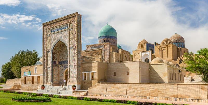 Xá-eu-Zinda, avenida dos mausoléus em Samarkand, Usbequistão fotos de stock