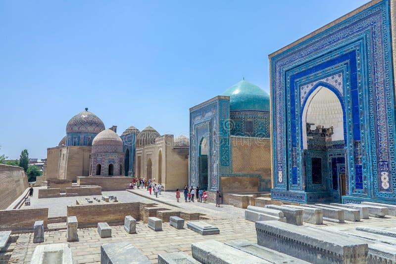 Xá-eu-Zinda 35 de Samarkand imagem de stock
