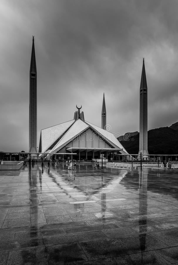 Xá Faisal Mosque Islamabad Pakistan fotografia de stock royalty free