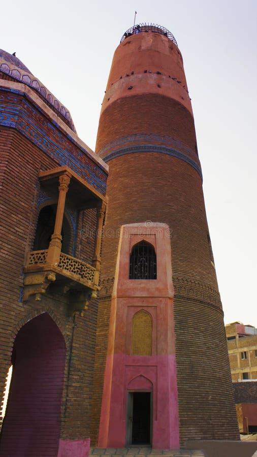Xá Minaar de Masoom em Sukkur, Paquistão fotos de stock royalty free