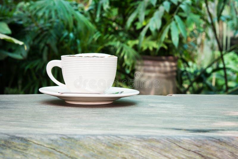 Xícara de café branca foto de stock